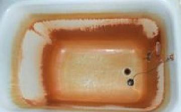 ホーロー浴槽磨き着手前